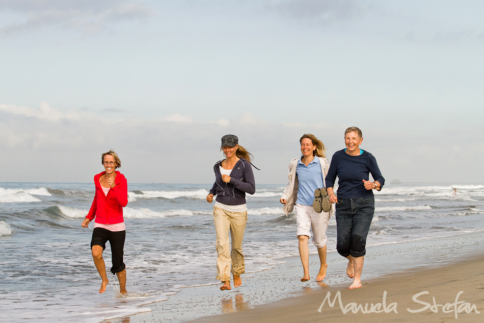 Equine Pacifica students running on the beach