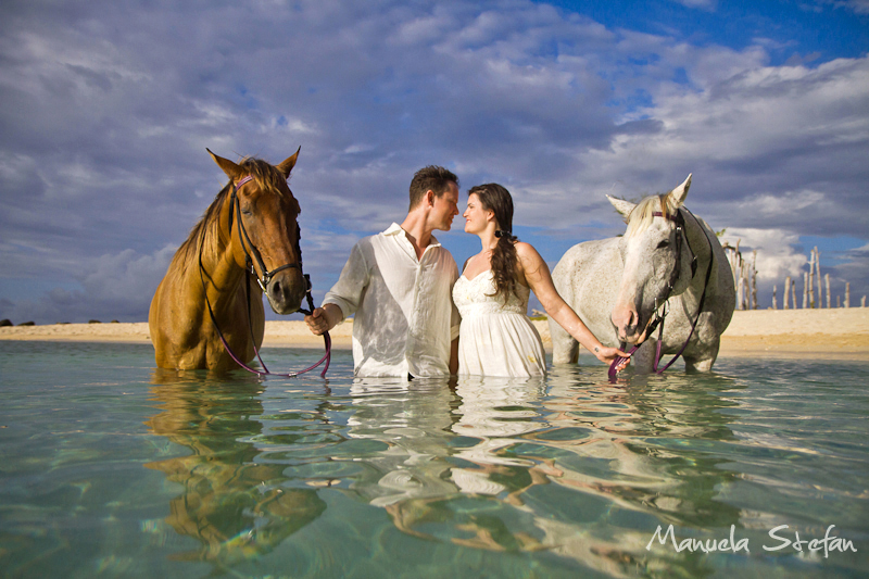 Bride and groom at Braco Stables Jamaica