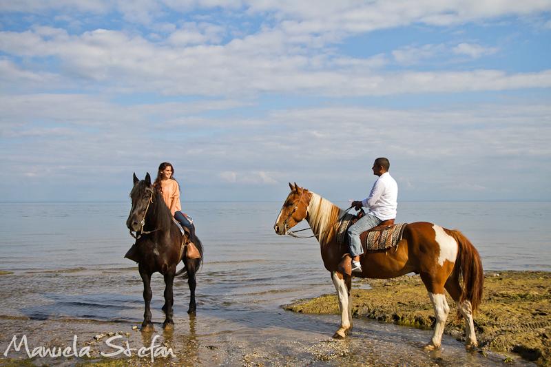 Engagement photos at Horse Play Niagara