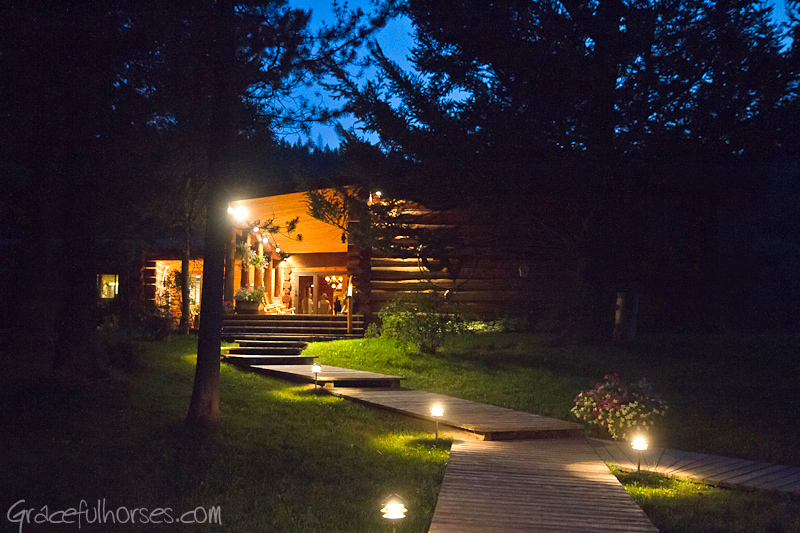 Gros Ventre River Ranch at night