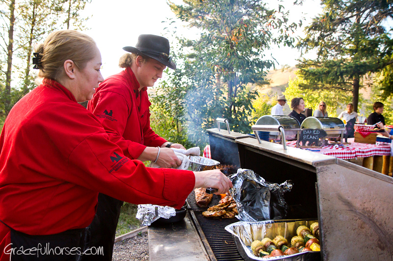 Gros Ventre River Ranch cookout