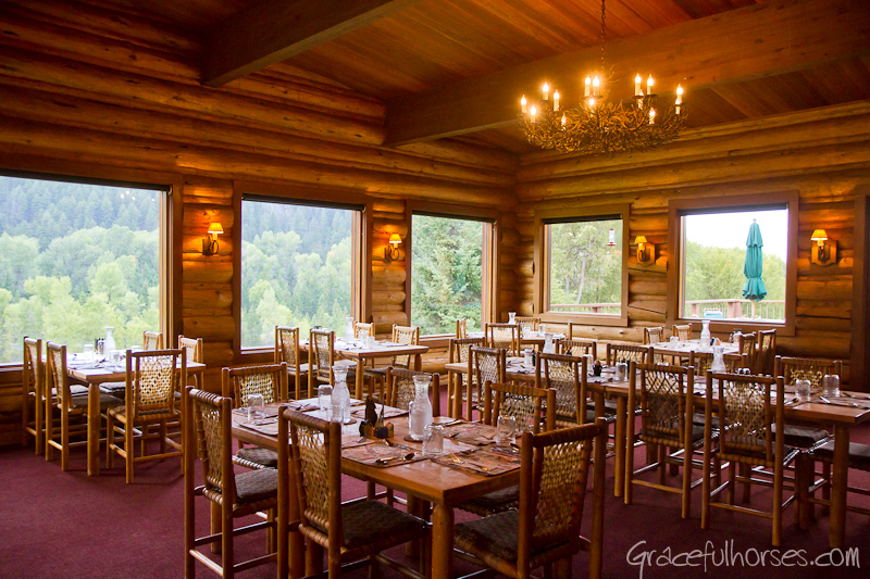 Gros Ventre River Ranch dining room