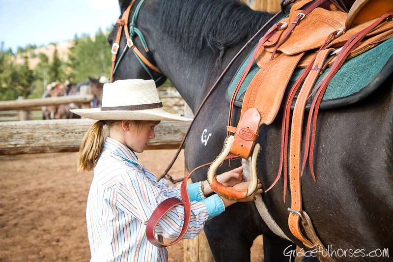 Managers daughter at Gros Ventre River Ranch