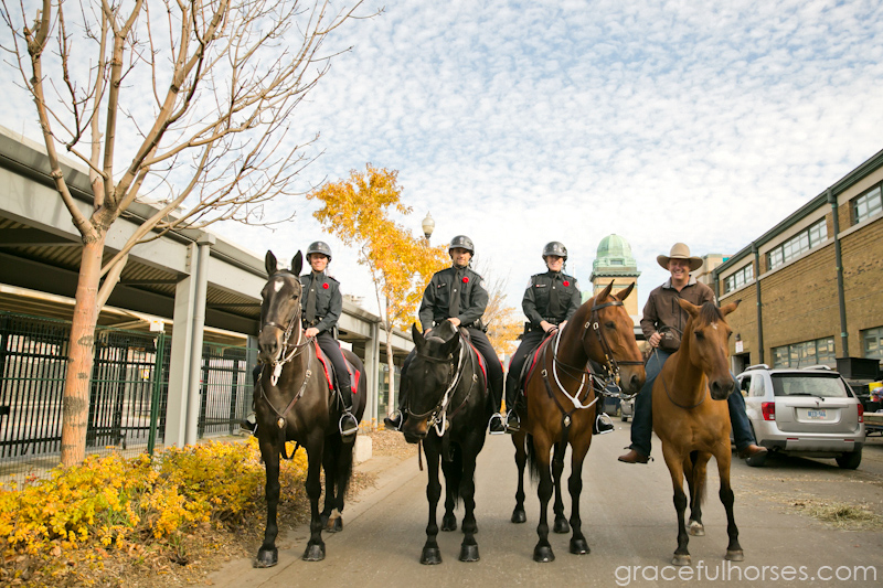 Guy McLean and RCMP officers