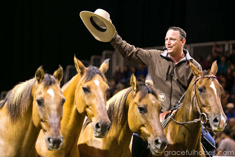 Guy McLean salutes the crowds at the Royal Winter Fair