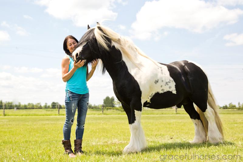 Pieternella Moor with stallion Jelle