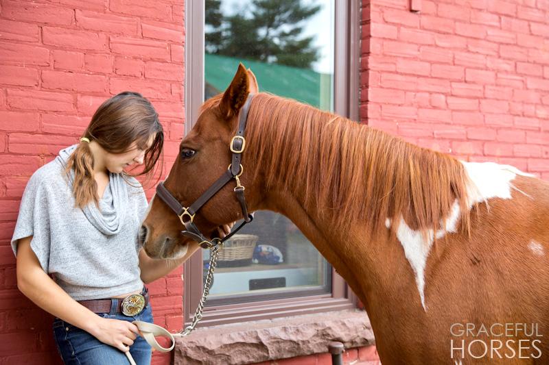 Girl and horse photos