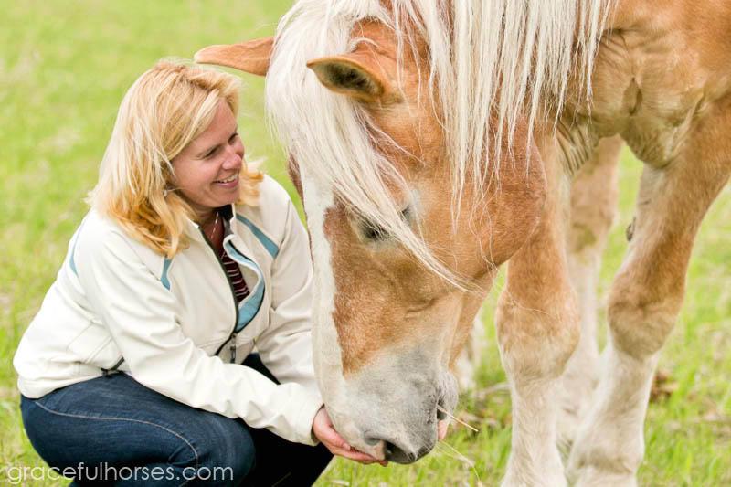 Cheri Davidson and horse Barney