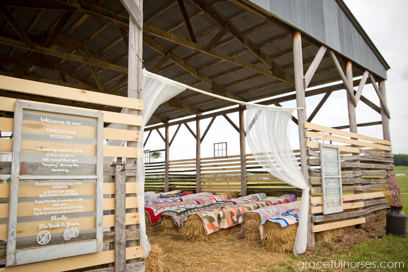 Barn wedding ceremony at Pine Brook Farm