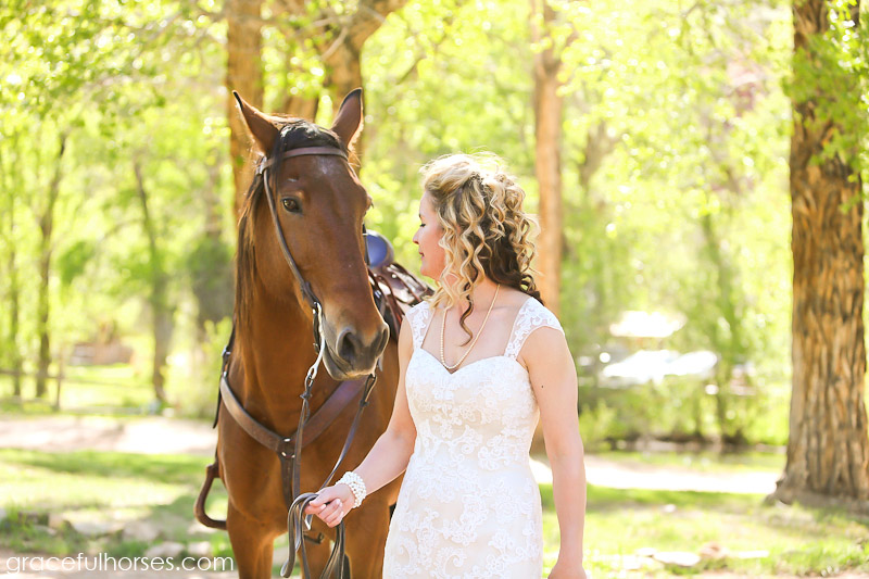 Bride and Lazy L&B Ranch horse