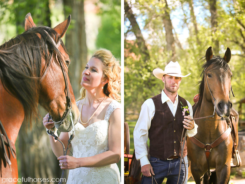 Bride and groom at the Lazy L&B Ranch