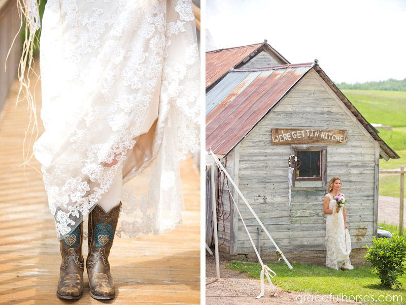 Bride at Pine Brook Farm