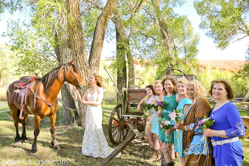Bridesmaids at the Lazy L&B Ranch