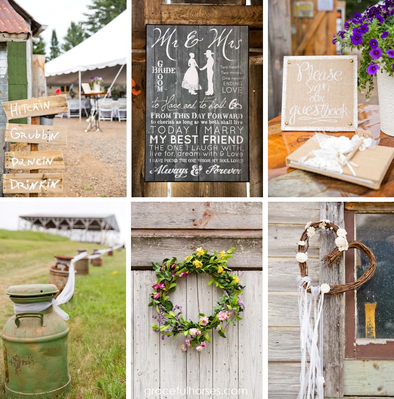 Farm weddings Spooner Wisconsin