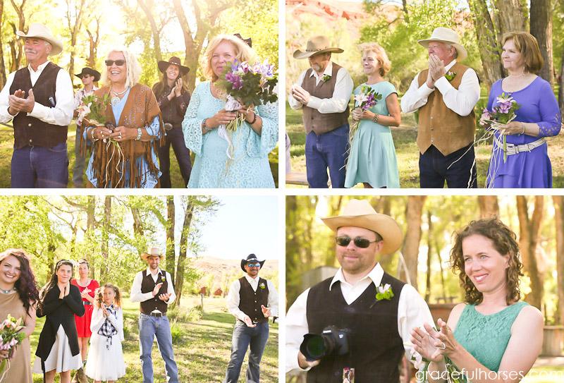 Wedding party at Lazy L&B Ranch