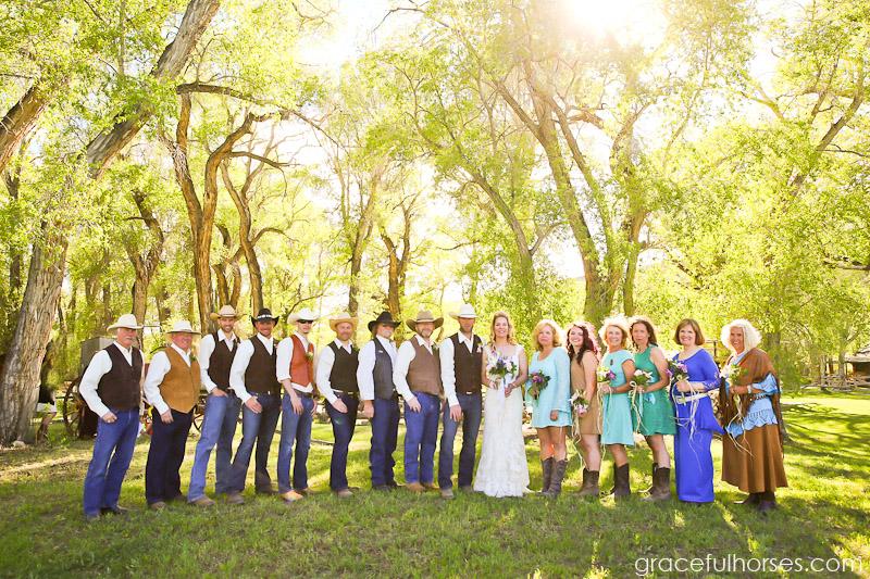 Wedding party at the Lazy L&B Ranch