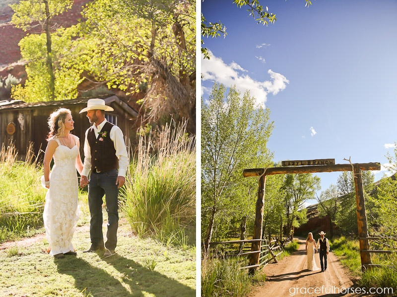Wedding photography at the Lazy L&B Ranch