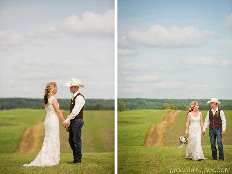 Farm wedding photographer Spooner Wisconsin