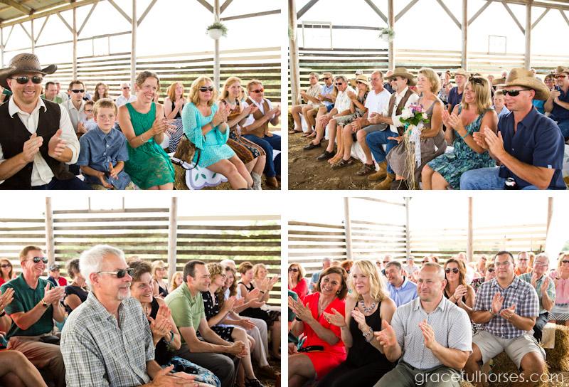 Pine Brook Farm wedding ceremony in the barn