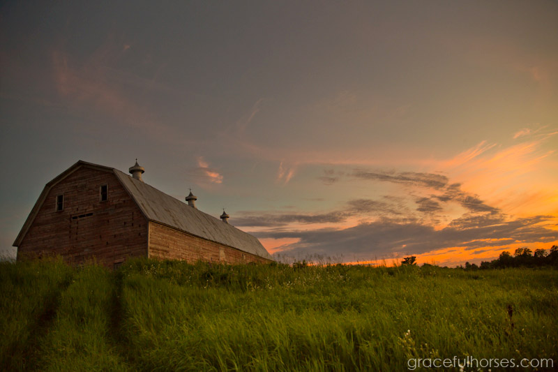 Sunset at Pine Brook Farm