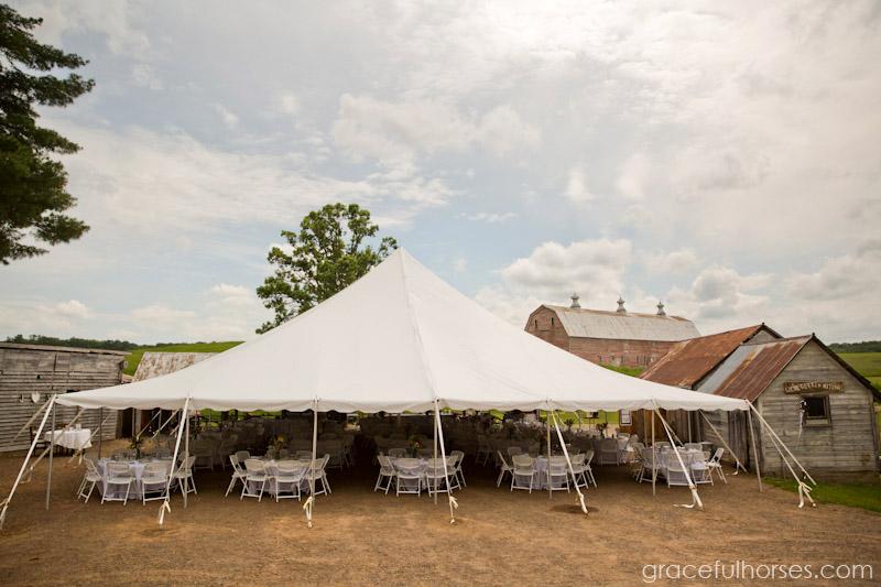 Wedding reception at Pine Brook Farm