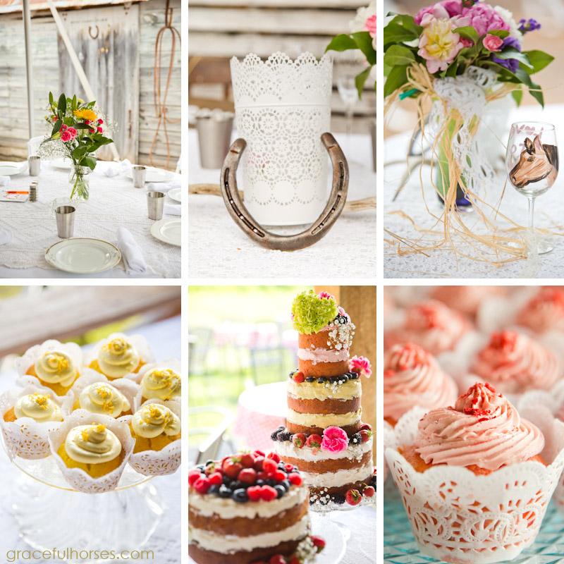 Wedding reception details Pine Brook Farm