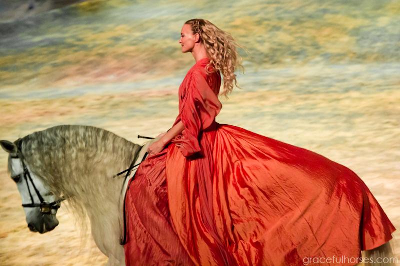 Cavalia girl and horse