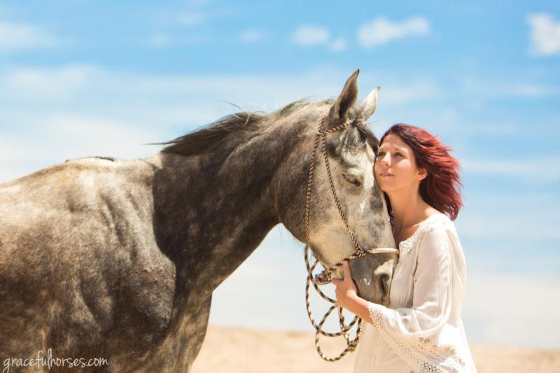 Equine budoir photo shoot