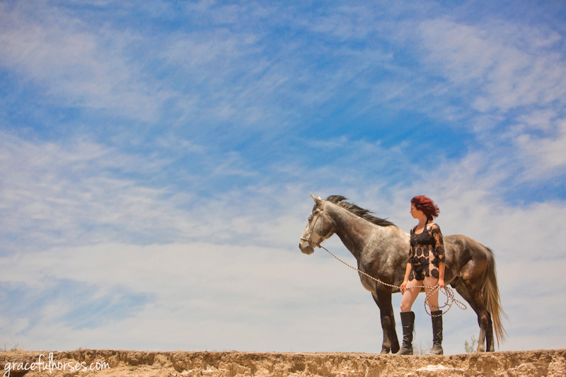 Horse budoir photography