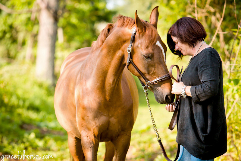 Arab horse and owner