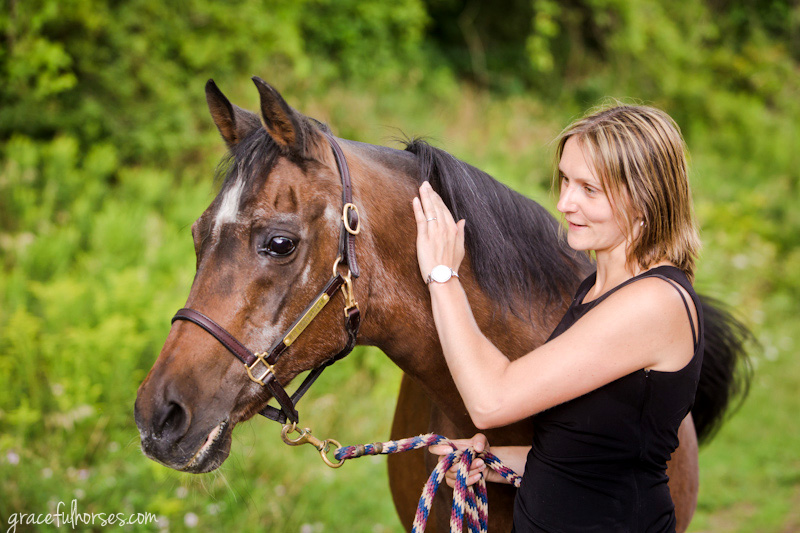 Arabian horse and owner