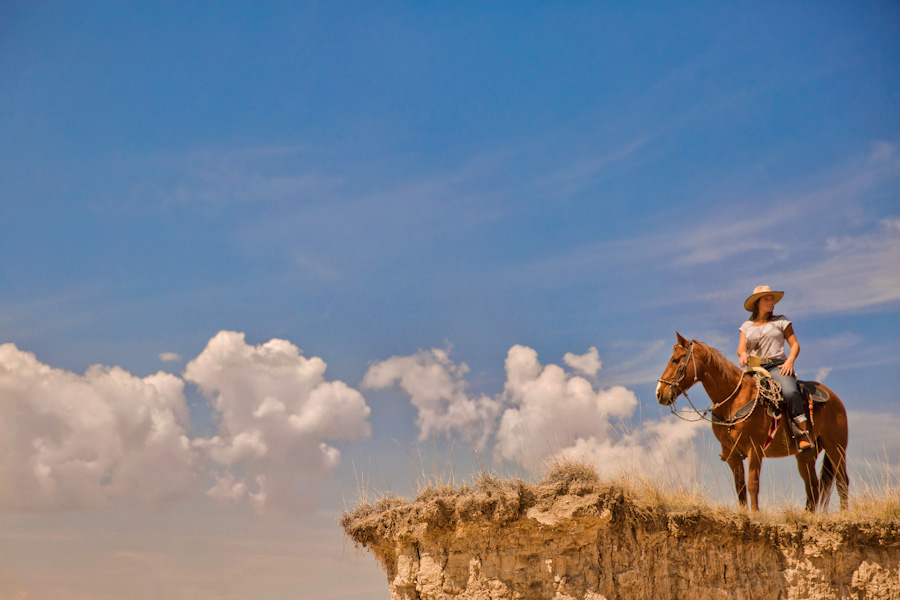 Horse and rider Mexico