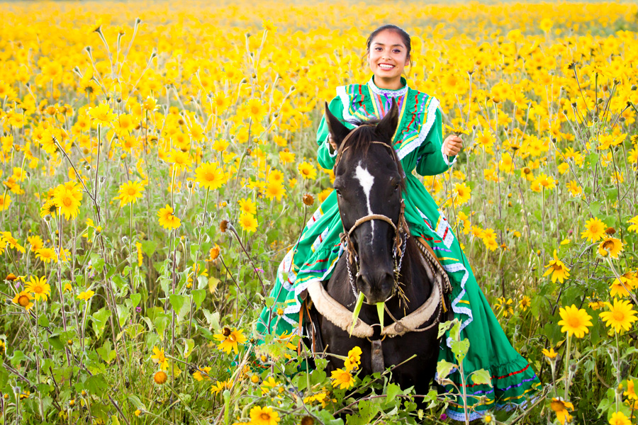 Mexican female rider