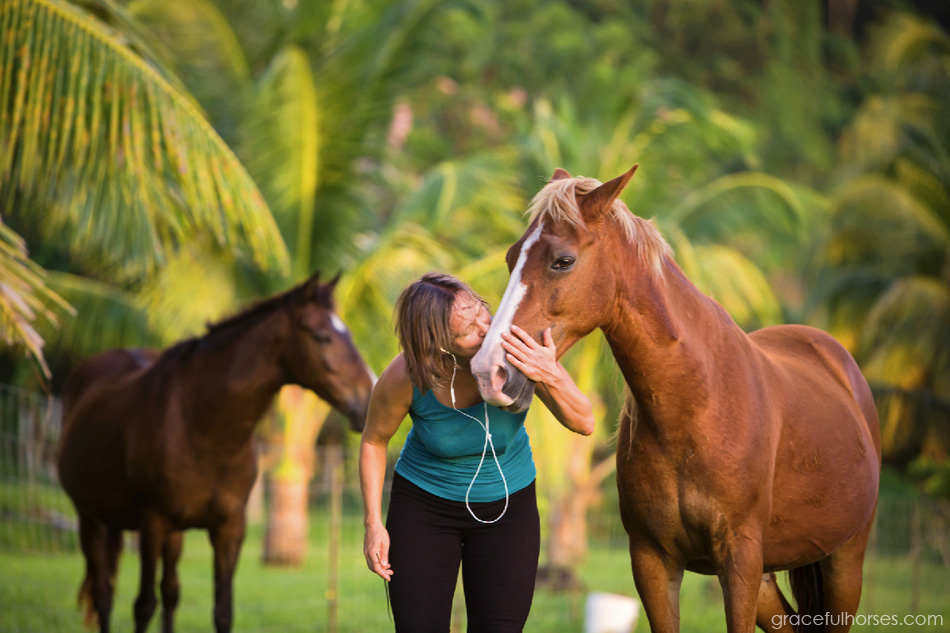 Stina Herberg and horse Jack